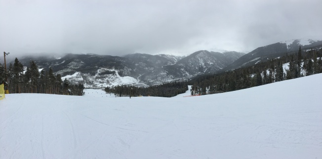 Panoramic view of the slopes.